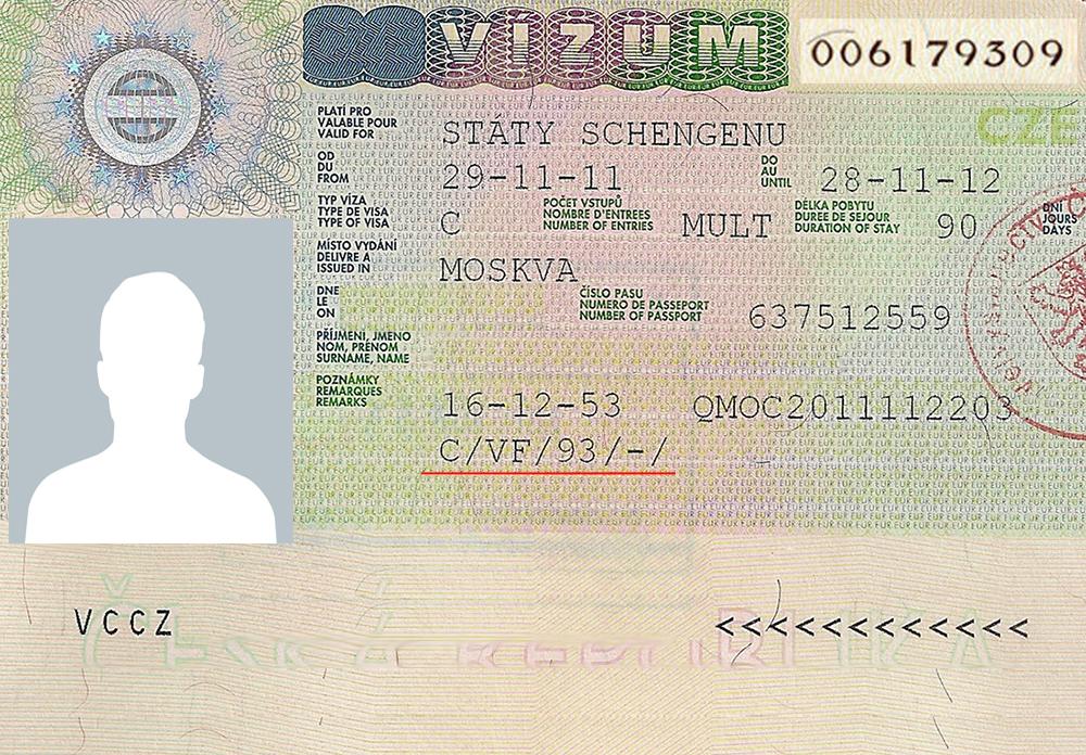 Коды виз и видов на жительство - Чехия